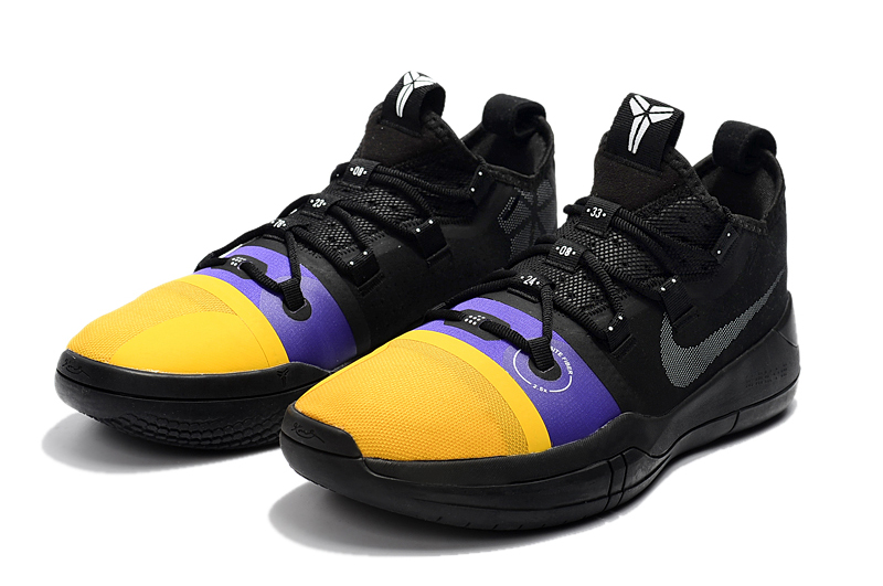 2018 new release nike kobe ad black yellow purple