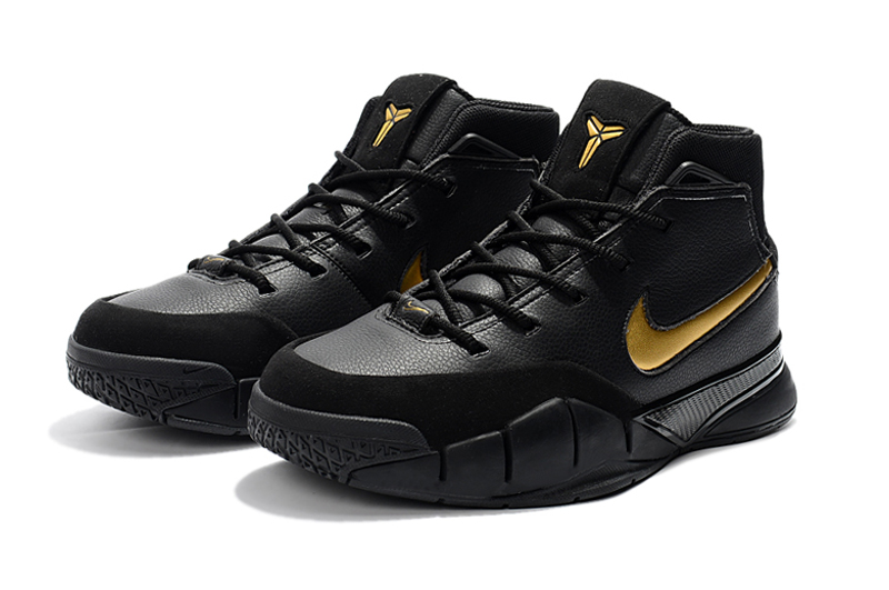 2018 nike kobe 1 protro mamba day black white metallic gold