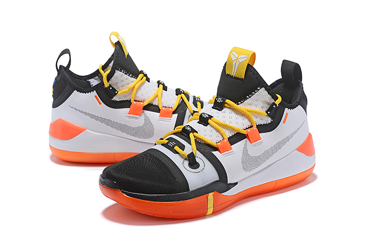 2018 nike kobe ad black white yellow orange basketball shoes