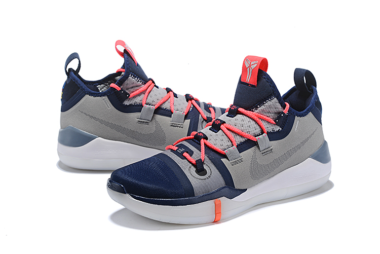 2018 nike kobe ad grey navy blue white crimson free shipping