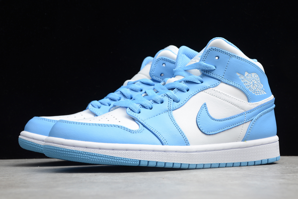 2020 air jordan 1 mid unc basketball shoes