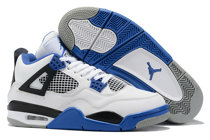 2020 new air jordan 4 white royal blue black sneakers