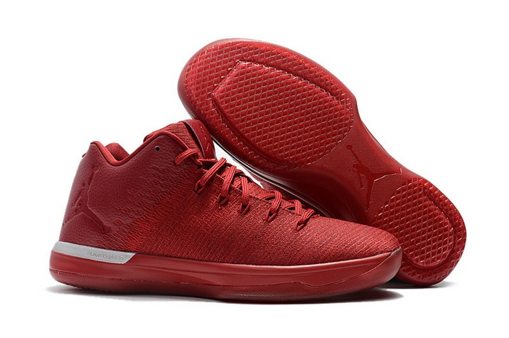 "2018 Air Jordan 31 Low ""Gym Red"" Chicago Away Basketball Shoes"