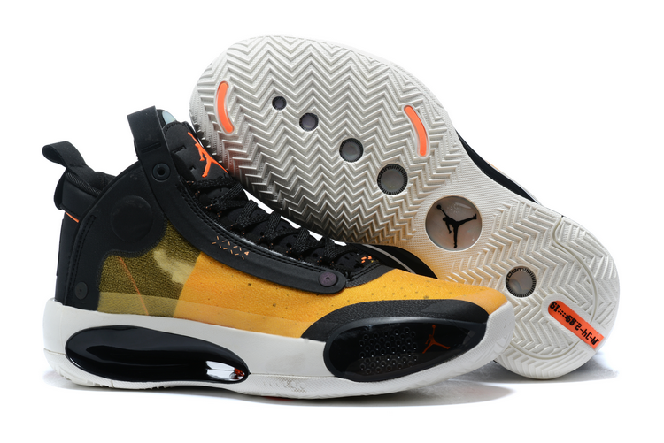 buy air jordan 34 black yellow orange white shoes