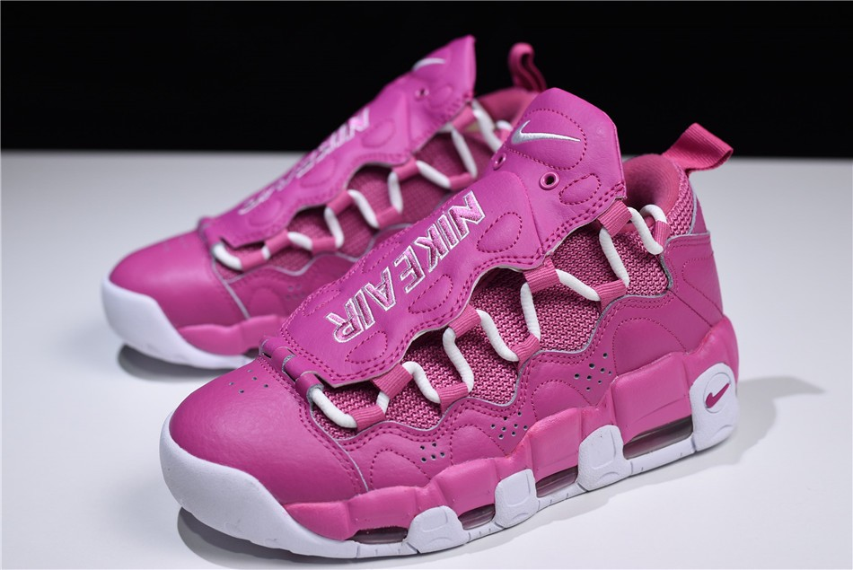 mens and womens nike air more money qs breast cancer awareness think pink white