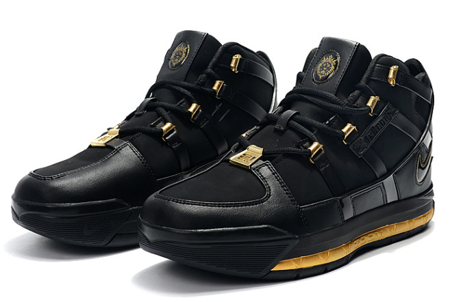 nike lebron 3 black gold for sale