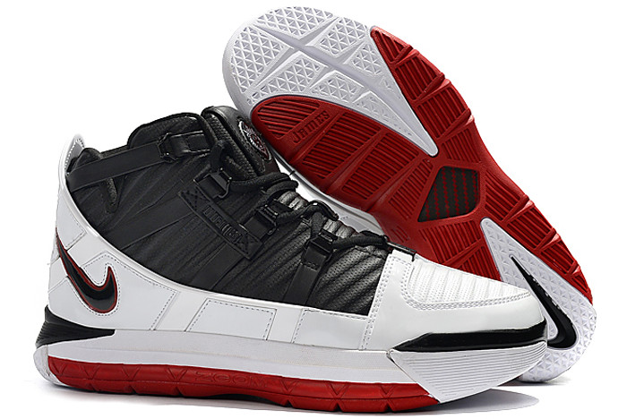 nike lebron 3 home white black varsity crimson