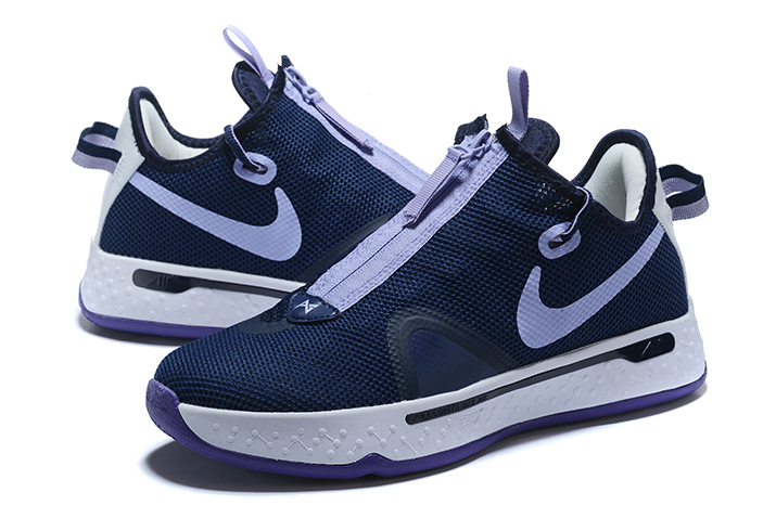 nike pg 4 navy blue white purple on sale