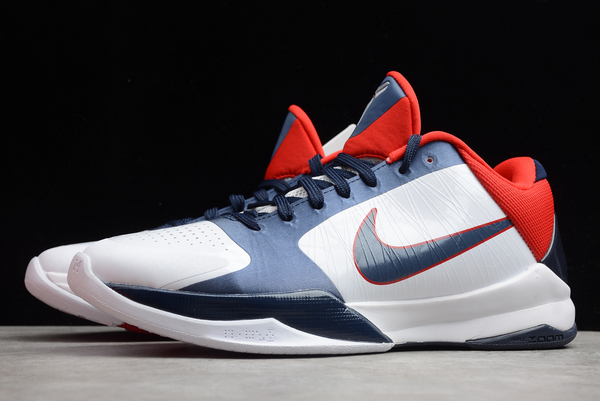 nike zoom kobe 5 usa white obsidian sport red shoes