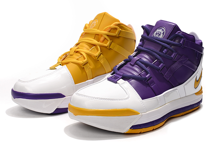 nike zoom lebron 3 lakers pe mens basketball sneakers