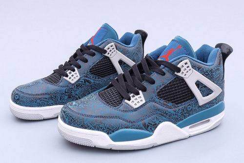 shop air jordan 4 deep ocean black cement grey fire red