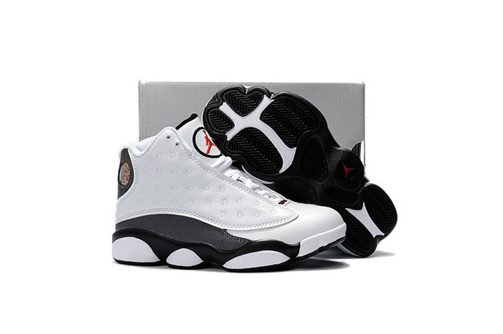 "2018 Kids Air Jordan 13 ""Love & Respect"" White Shoes"