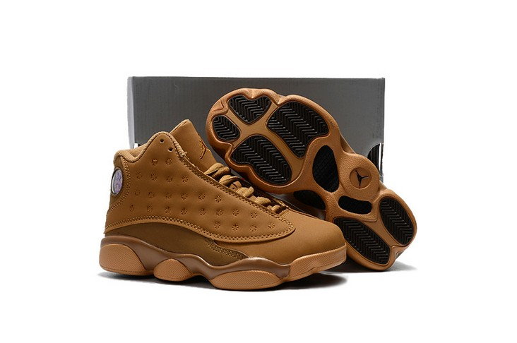 "2018 Kids Air Jordan 13 ""Wheat"" Shoes"