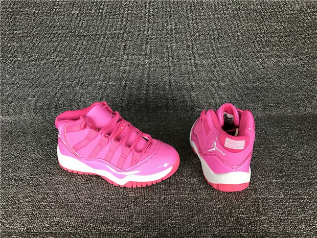 "Kids Air Jordan 11 ""Pink Everything"" Shoes"