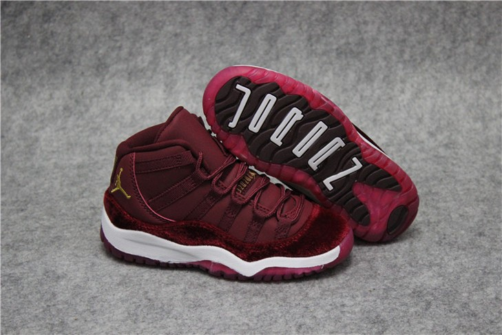 "Kids Air Jordan 11 ""Red Velvet"" Shoes"