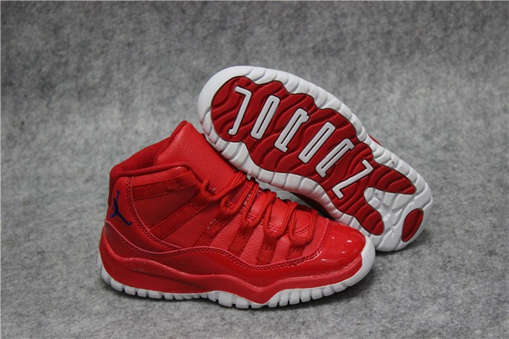 "Kids Air Jordan 11 ""Red White"" Shoes"