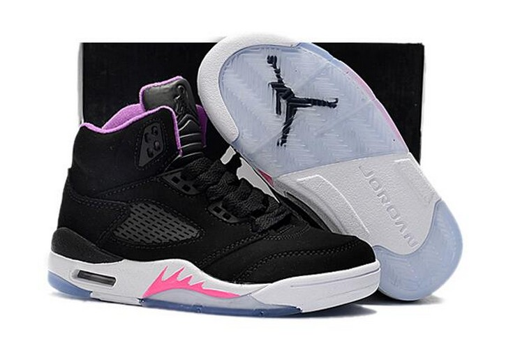 "2018 Kids Air Jordan 5 ""Deadly Pink"" Shoes"