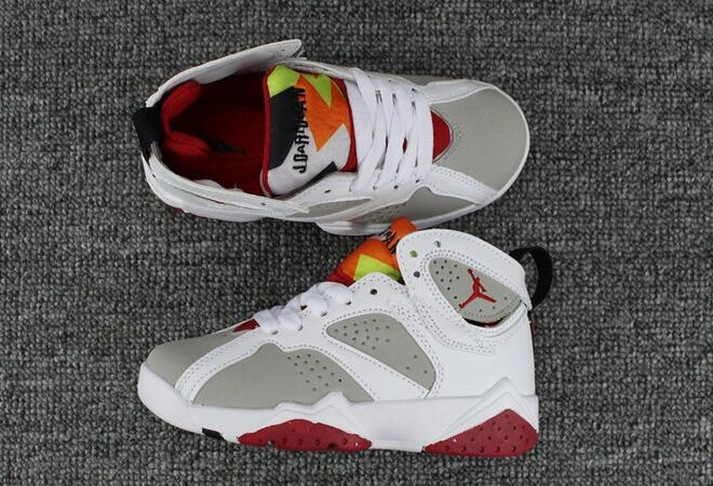 "2018 Kids Air Jordan 7 ""Hare"" Shoes"