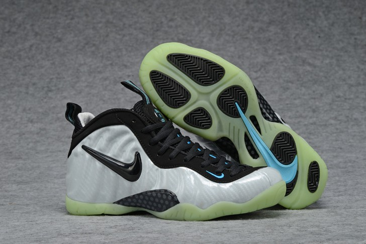 Nike Air Foamposite Pro Pearl White Black Teal Shoes