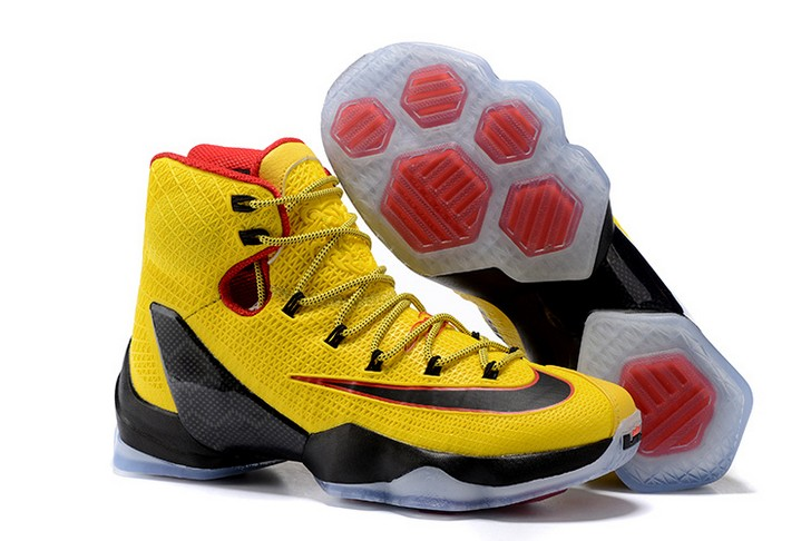 Nike LeBron 13 Elite Yellow Black Red Basketball Shoes