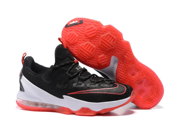 "2018 Nike LeBron 13 Low ""Bred"" Basketball Shoes"
