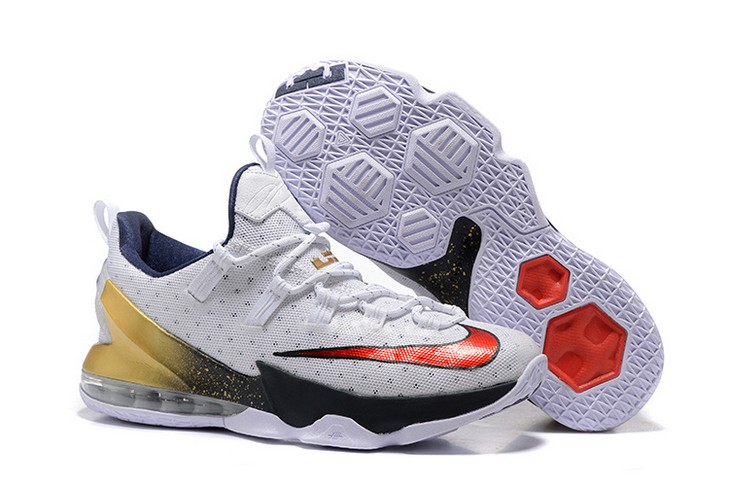 "2018 Nike LeBron 13 Low ""Olympic Gold Medal"" Basketball Shoes"