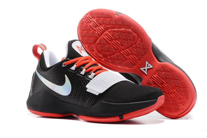 2018 Nike PG 1 Black White Red Basketball Shoes