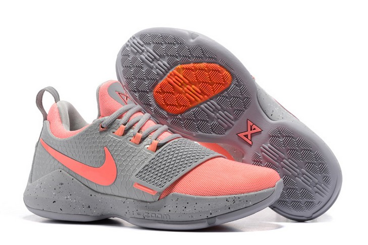 2018 Nike PG 1 Grey Pink Basketball Shoes