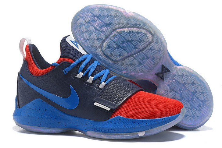 2018 Nike PG 1 Navy Blue Red Basketball Shoes