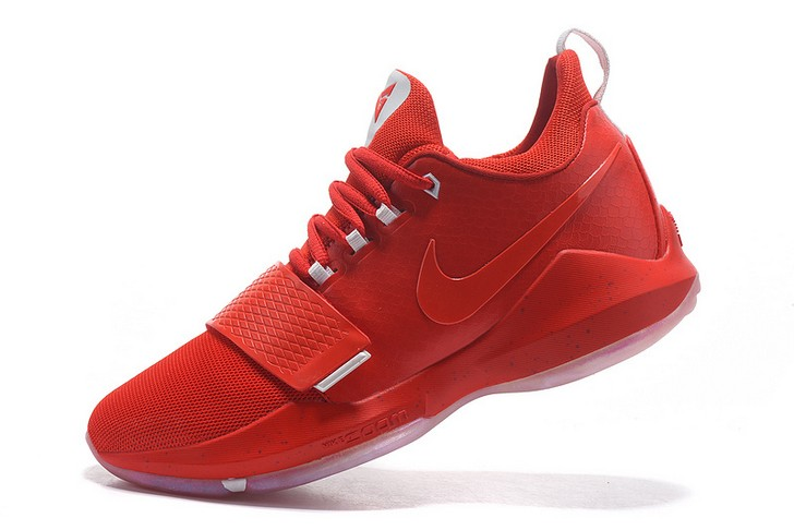 2018 Nike PG 1 Red White Basketball Shoes