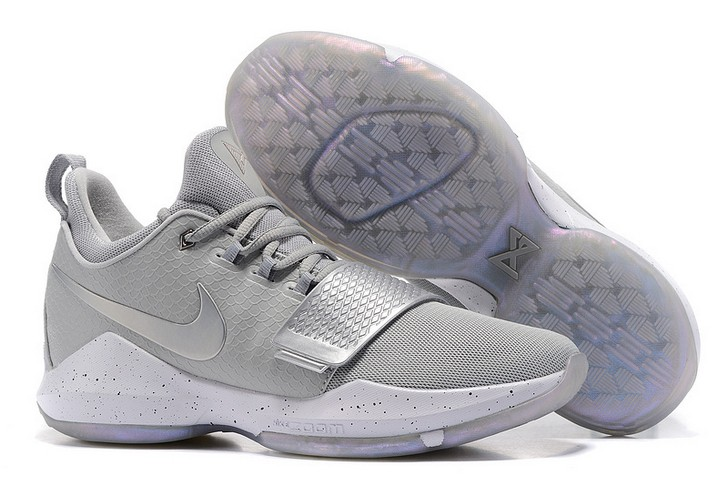 2018 Nike PG 1 Silver Grey Basketball Shoes