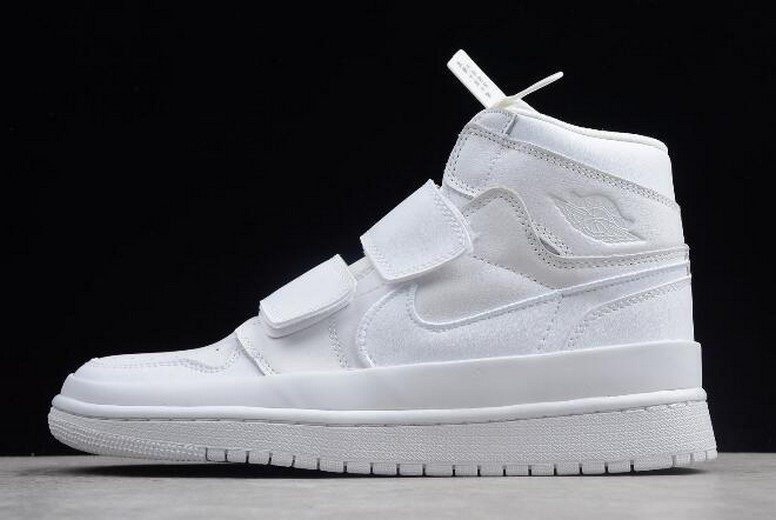 2018 Mens Air Jordan 1 (I) Retro High Double Strap White AQ7924-100 Shoes