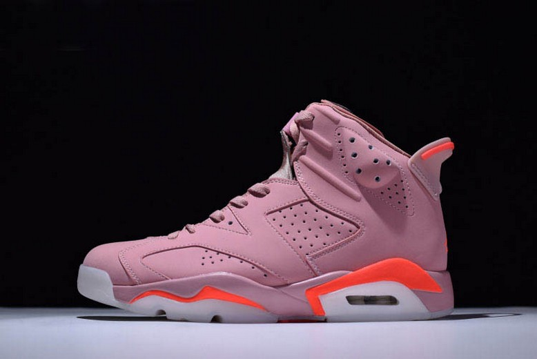 "2018 Mens Aleali May's Air Jordan 6 (VI) Retro ""Millennial Pink"" 384664-031 Shoes"