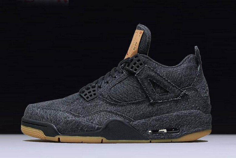 "2018 Levi's x Air Jordan 4 ""Black Denim"" AO2571-001 Shoes"