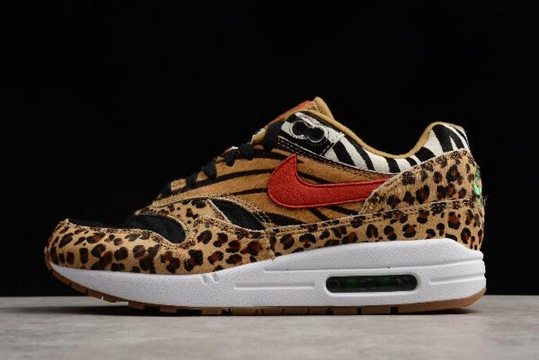 "2018 Mens atmos x Nike Air Max 1 DLX ""Animal Pack 2.0"" AQ0928-700 Shoes"