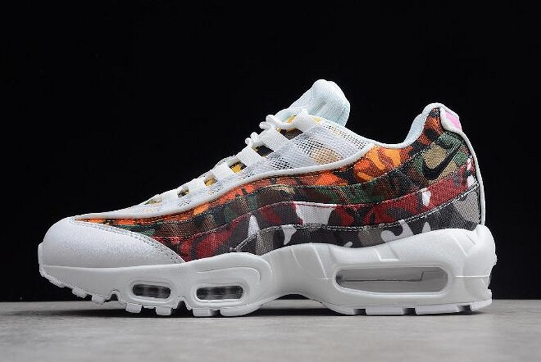 "2018 Nike Air Max 95 ERDL Party ""Camo"" White Multi-Color AR4473-100 Shoes"