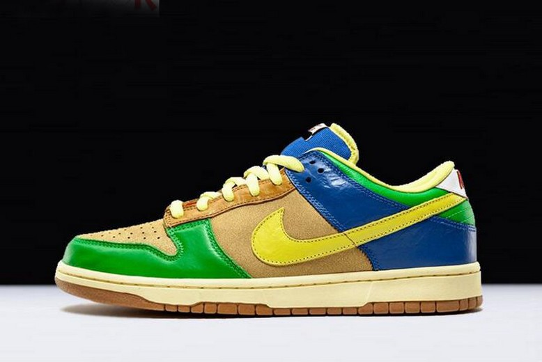 "2018 Nike Dunk Low Premium SB ""Brooklyn Projects"" Halo Zitron 313170-771 Shoes"