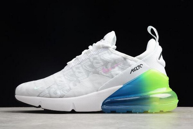 2018 Nike Max 270 White Explosion Green Blue Pink BQ0742-998 Shoes