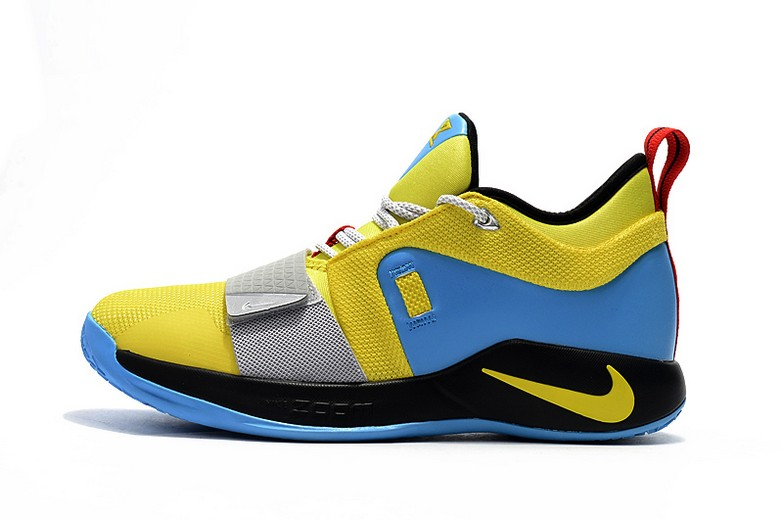2018 Nike PG 2.5 Opti Yellow Blue Hero BQ9457-740 Basketball Shoes