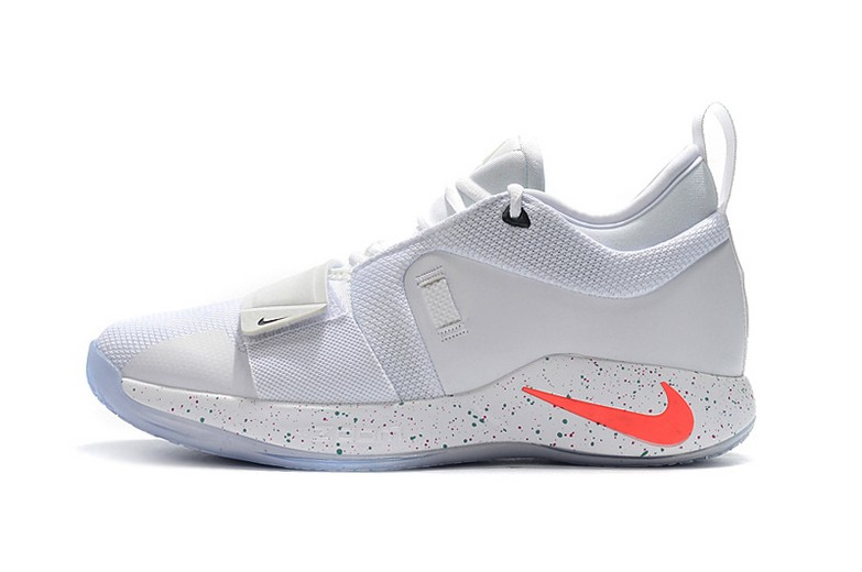 2018 Nike PG 2.5 White Multi-Color Mens Basketball Shoes