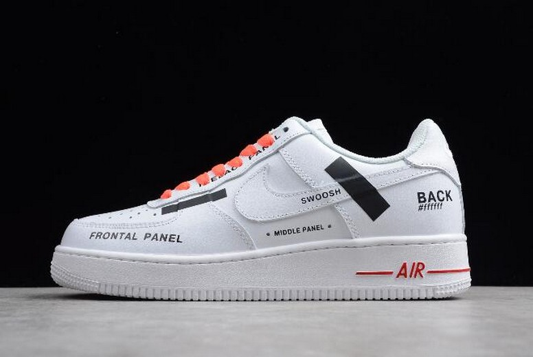 2018 Off White x Nike Air Force 1 '07 Frontal Panel White AR7720-101 Shoes