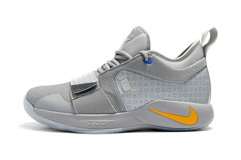 2018 Playstation x Nike PG 2.5 Wolf Grey Multi-Color BQ8388-001 Basketball Shoes