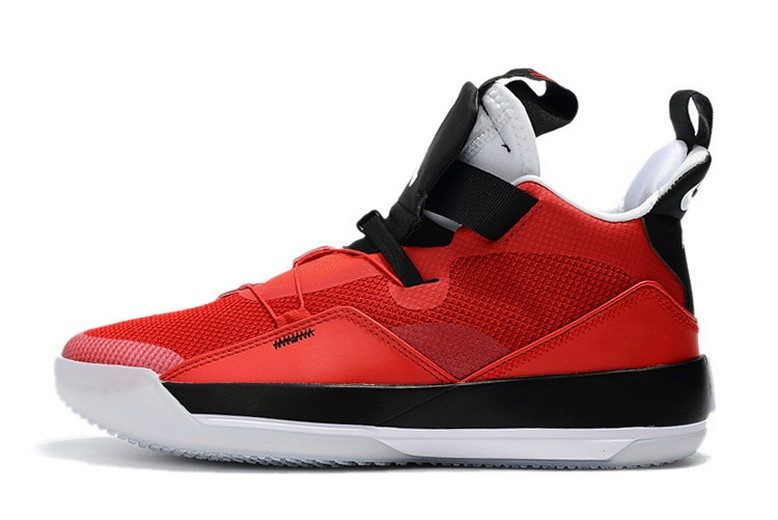 "2019 Air Jordan 33 ""CNY"" University Red Black White Basketball Shoes"
