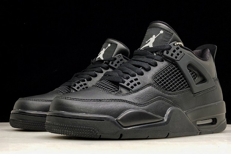 "2019 Air Jordan 4 (IV) Retro ""Black Cat"" All Black 308497-002 Shoes"