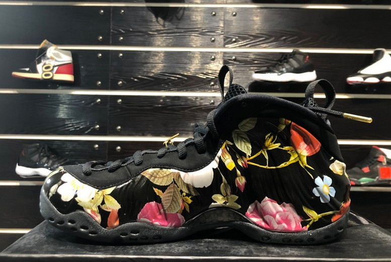 "2019 Nike Air Foamposite One ""Floral"" Black Metallic Gold 314996-012 Shoes"