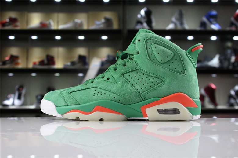 "Air Jordan 6 ""Gatorade"" In Green Suede"