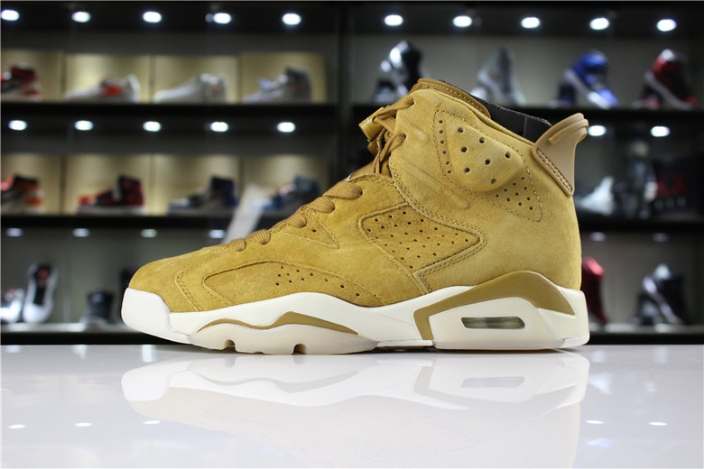 "Air Jordan 6 ""Wheat"" Golden Harvest Elemental Gold 384664-705"
