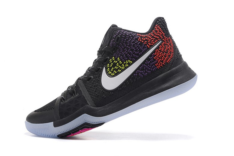 Colorful Nike Kyrie 3 Black Red Purple Yellow Mens Basketball Shoes