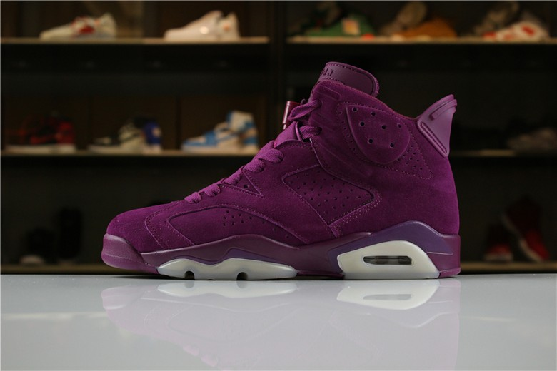 "Custom Air Jordan 6 ""DIY"" Personal Tailor Bordeaux Sail"