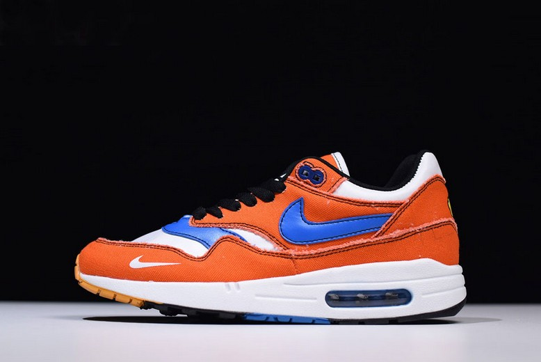 "Custom Dragon Ball Z x Nike Air Max 1 ""Goku"" Orange Blue White Shoes"